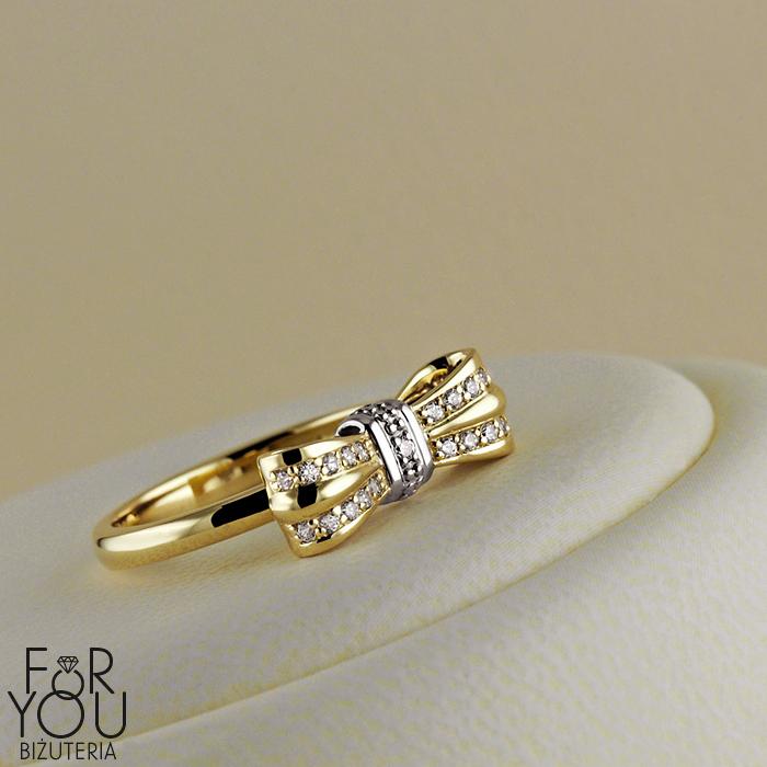 a7dbe6945d4b2a Złoty pierścionek Kokardka   Pierścionki   Jubiler internetowy FOR ...