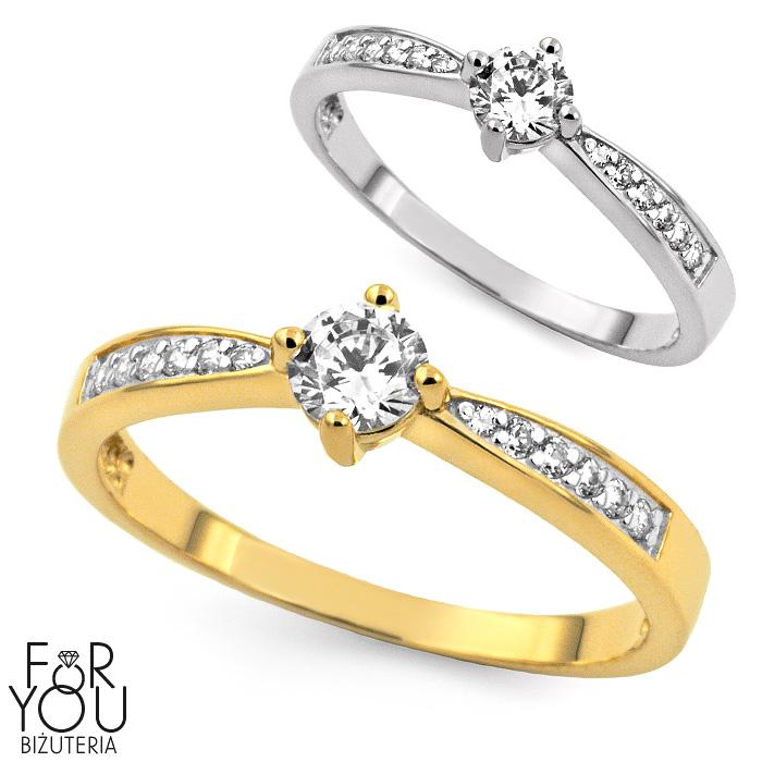 Złoty Pierścionek Zaręczynowy For You Biżuteria Jubiler Sklep